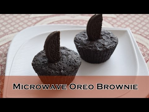 Microwave Oreo Brownie Recipe | Eggless Cookie Brownie | Magic of Indian Rasoi