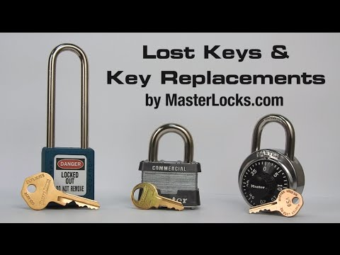 Master Lock® Lost Keys and Key Replacements