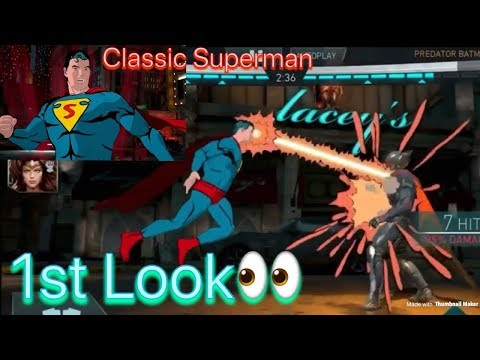 Injustice 2 Mobile first look 2.2 update Classic Superman Looks Amazing