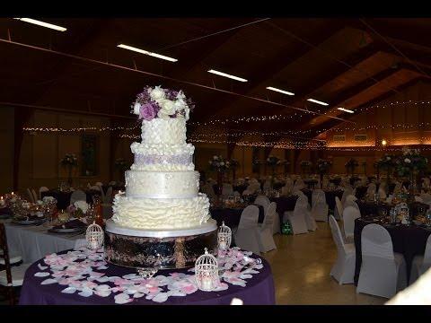 Ruffle tutorial. How to decorate wedding cake with ruffles.