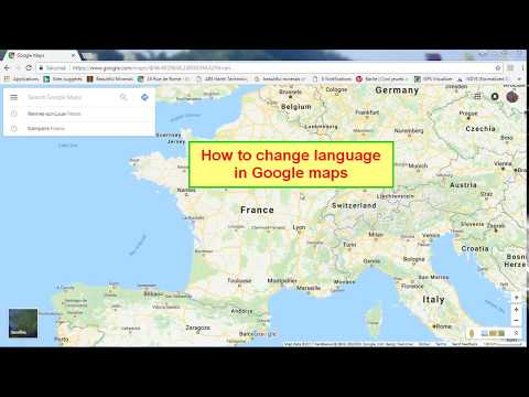 Change language in Google Maps