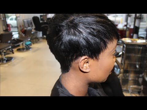 Salon Work  short hair series from natural to pixie