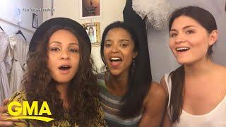 The Schuyler Sisters talk 'Hamilton' ahead of Disney+ debut | GMA