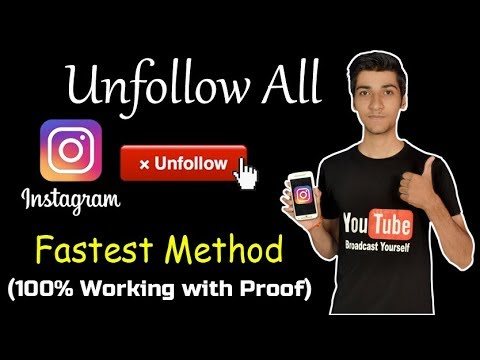 How to Unfollow all on Instagram in Just few minut