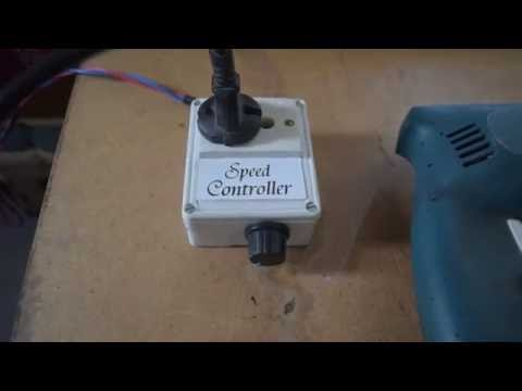 Speed controller for AC drill