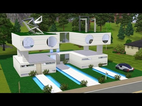 The Sims 3 - Building Smart Home (Into The Future)