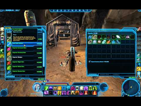 Balmorra Datacron #8 Aim +4 Lost Code Cylinder Vendor Key to Space Chest swtor.lrn2game.com