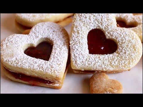 LINZER HEART COOKIES || Valentine's Day Cookies Recipe