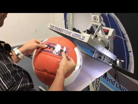Custom Medicine Ball with a Heat Press and Siser Easy Weed Heat Transfer Vinyl
