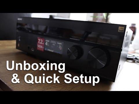 Sony STR-DH750 A/V Receiver | Unboxing & Quick Setup