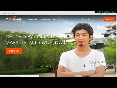 How to create Payoneer account 2018