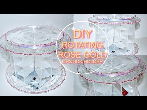 DIY Rotating ROSE GOLD Lipstick Holder (Affordable)