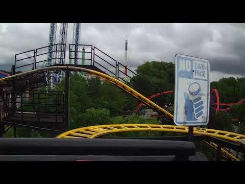 Six Flag's Great Adventure's Gotham City Transit on ride POV