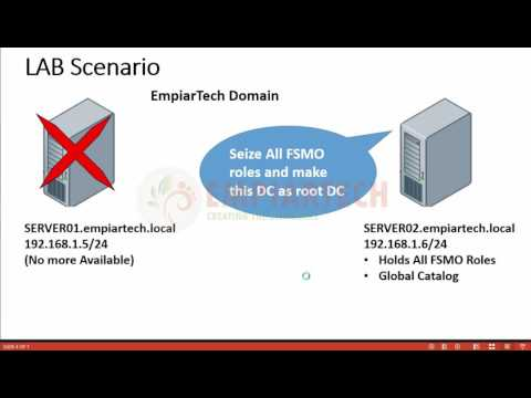 How to Seize FSMO roles in Windows Server 2016
