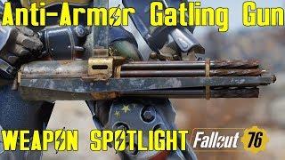 Fallout 76: Weapon Spotlights: Vampire's Prime  50 Cal Machine Gun