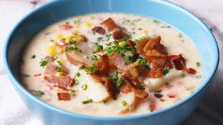 Instant Pot Summer Corn And Bacon Soup •Tasty