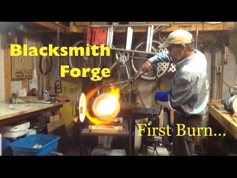 Blacksmith Propane Forge - 1st Firing To Forge Welding Heat - MSFN