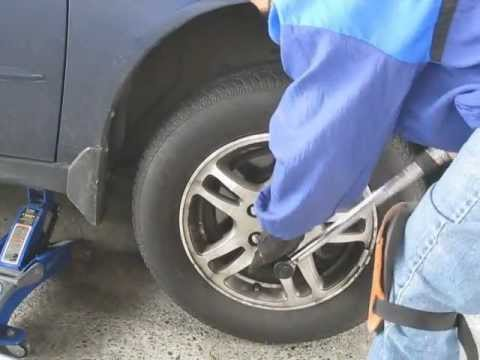 How To Change Winter Tires (with rims on)