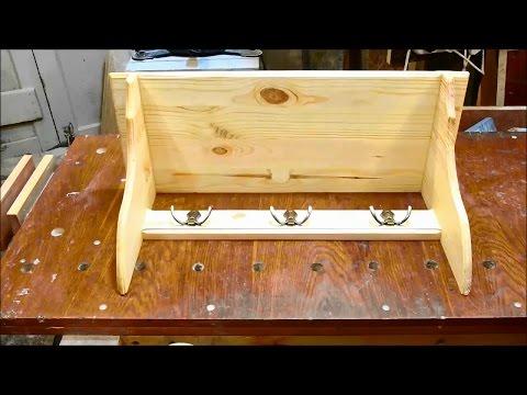 Homemade wooden wall shelf
