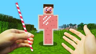 REALISTIC MINECRAFT - STEVE BECOMES A SMOOTHIE!🥛