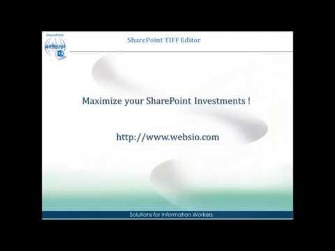 SharePoint TIFF Editor