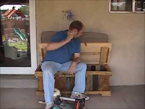 7 - Patio Storage Bench (made from pallets) - Manhattan Wood Project