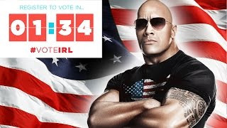 Register To Vote In 134 With Dwayne The Rock Johnson Voteirl