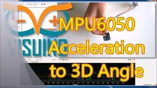 Visuino and Delphi Tutorial: Sending MPU6050 Acceleration