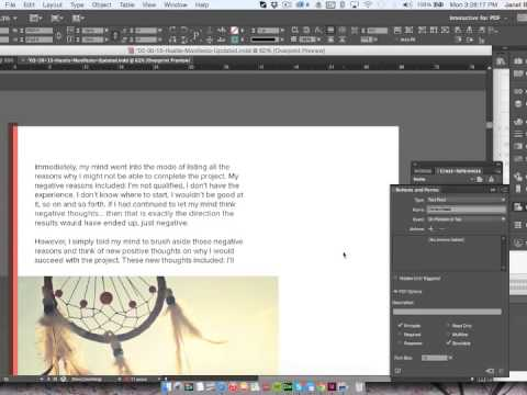 InDesign Tutorial - Fillable Interactive PDFs
