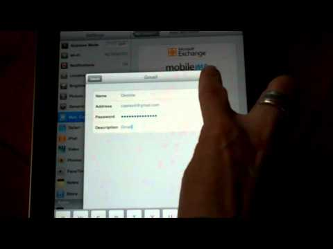 Adding a Gmail Acct to your iPad