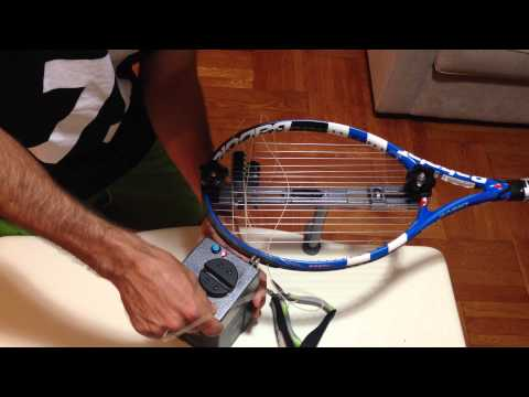 Stringing with a hybrid string (Different string types)