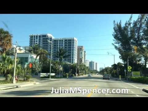 Drive through Pompano Beach Florida