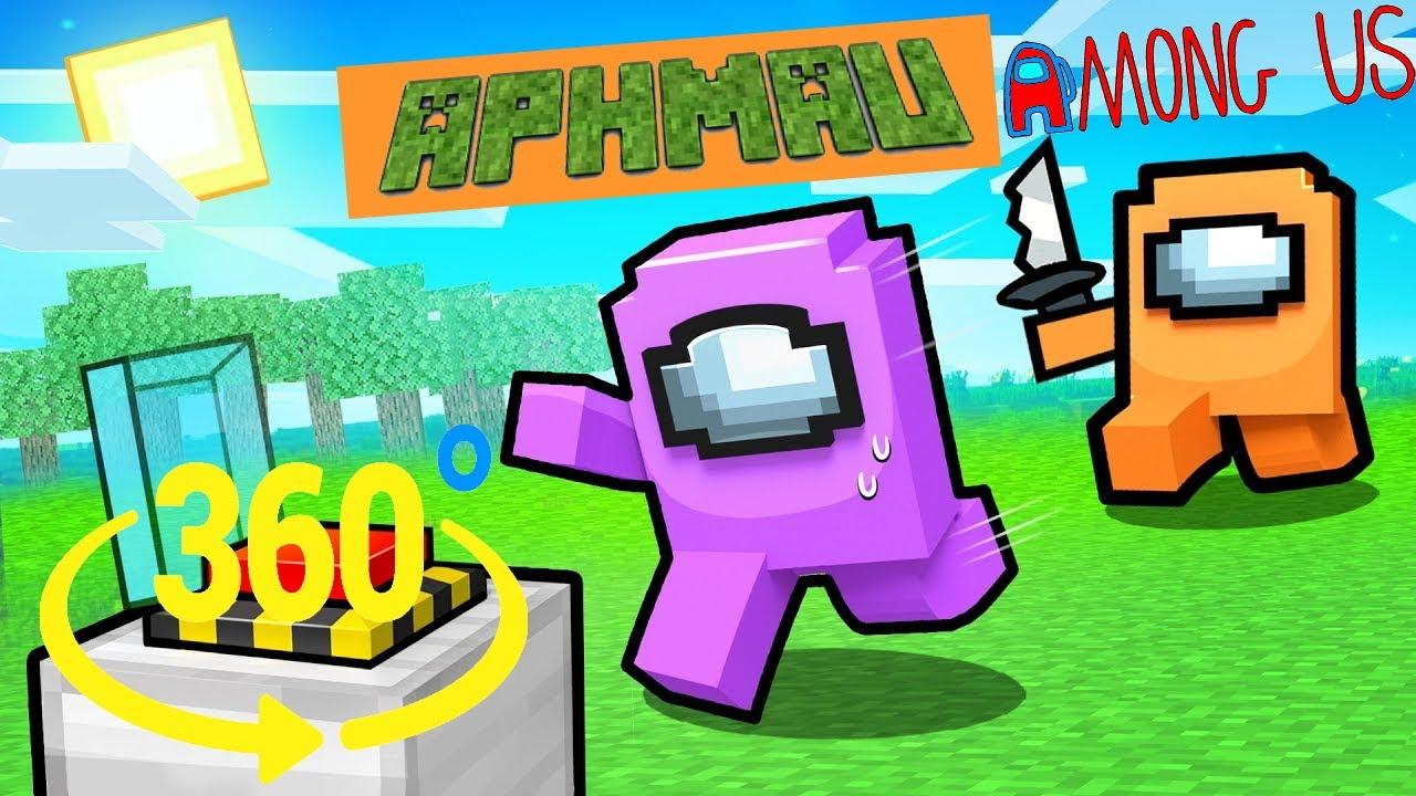 Aphmau vs Kawaii Chan - the Impostor in Among Us Minecraft 360°