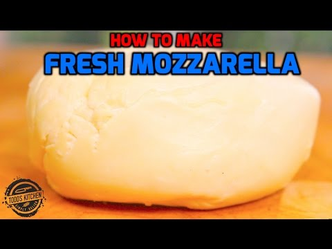 How to make Fresh Mozzarella Cheese recipe - Home Made DIY