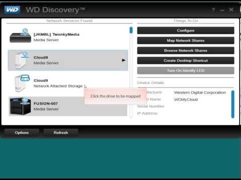 WD My Cloud, Mapping a Network Share Manually