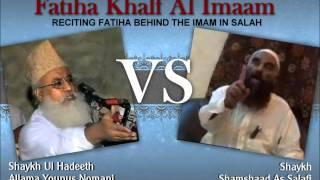 Manazrah; Fatiha Khalfalimam: Moulana Yunus Nomani Vs Shaykh Samshad Salafi (Part 2/3)