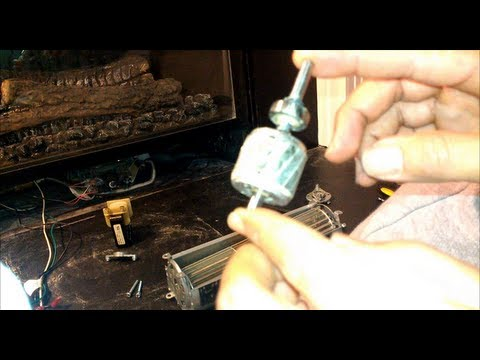 How to revive/lubricate your fireplace blower fan or any other squirrel cage rotor/motor/fan.