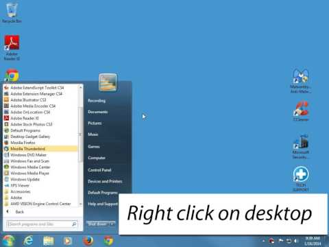 How to create a desktop shortcut