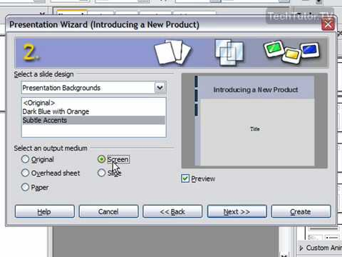 Create a New Presentation from a Template in OpenOffice Impress