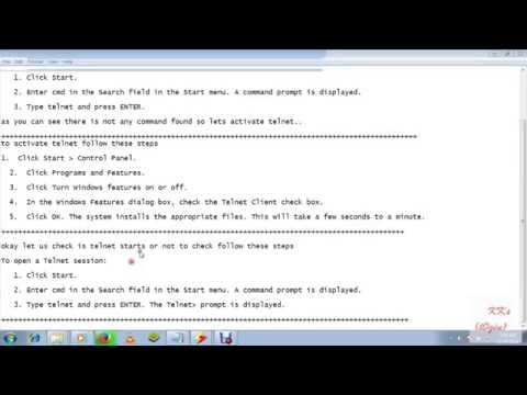 How to open a Telnet session on Windows 7 or Windows 8 OS in just two simple steps