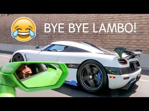Koenigsegg DESTROYS Cocky Lamborghini LOL!