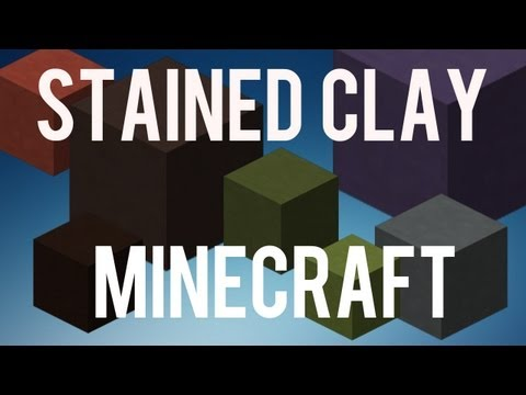 How To Make And Use Stained Clay Minecraft 1.6