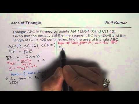 Area of Scalene Triangle Analytical Coordinate Geometry Solution