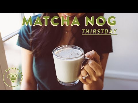 Easy and Yummy MATCHA EGGNOG LATTE for the Holidays 💥 #THIRSTDAYS