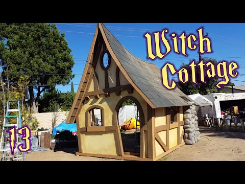 Witch Cottage Facade - Working On The Chimney & Roof