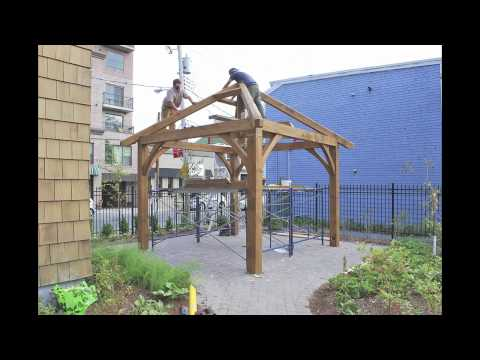 Gillis & Company Timber Frames - A Timber Frame Gazebo for Margaret's House, Dartmouth, NS