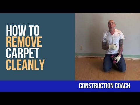 How to remove carpet cleanly - DIY