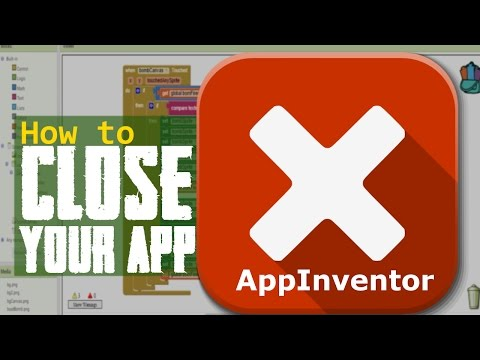 Tutorial For App Inventor/Thunkable/Appybuilder how to close you app - open another screen!