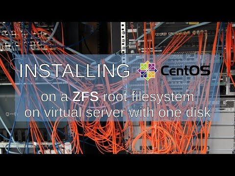 Installing CentOS 7 on a ZFS root filesystem on virtual serer with one disk