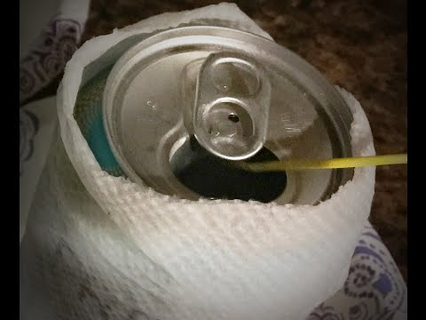 Soda or Beer Can + Wet Paper Towel = Cold More Quickly?  Let's find out! #0054